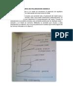 Curva de Polarizacion Anodica