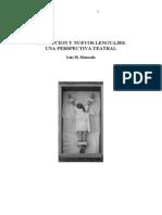 Percepción y nuevos lenguajes (una perspectiva teatral)