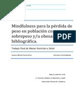 Mindfulness para la pérdida de peso.