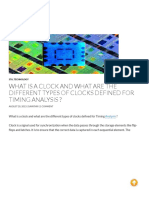 What is a Clock and What Are the Different Types of Clocks Defined for Timing Analysis _ - Technology@Tdzire