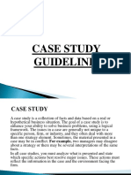 Case Study Guideline of marketing