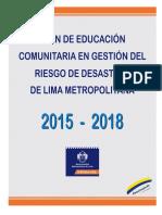 PLAN DE EDUCACIÓN COMUNITARIA
