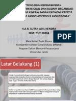 A.r Sutan Adil Hendra - Pengaruh Kepemimpinan Transformasional Dan Budaya Organisasi