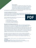 Factors Involving Personality Development