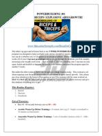 Powerbuilding 101 Biceps Triceps Explosive Arm Growth