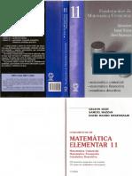 Fudamentos Matemática elementar vol11