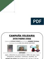 Afiche La Campaña Solidaria