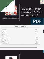 Anemia Por Deficiencia de Hierro 1