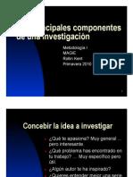 Kent 1ª Conf_Los principales componentes de una investigación