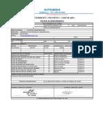 ADR 879 Constancia de Mantenimiento