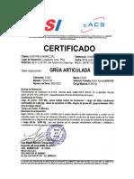 ADR-879 Certificado de Operatividad