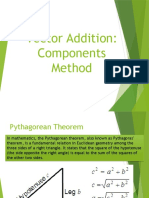 Addition of Vectors Components Method