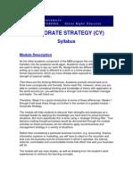 Syllabus Corporate Strategy