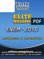 Elite resolve linguagens matematica 2015