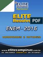 Elite Resolve ENEM 2016 Humanidades-Natureza-Prova Amarela