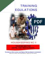 Housekeeping NC II – 55 Days