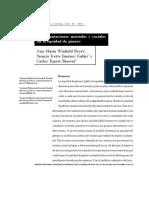 Representaciones sociales mentales y sociales en la equidad de genero