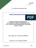 Les pratiques Managériales  un tremplin vers la modernisation de la gestion des Ressources Humaines.PDF