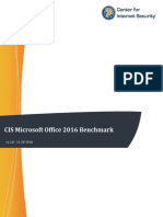 CIS Microsoft Office 2016 Benchmark v1.1.0