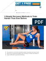 3 Simple Recovery Methods to Train Harder Than Ever Before
