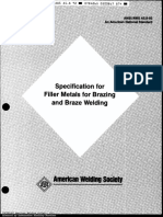 AWS A5.8-92 Specification for Filler Metals for Brazing