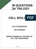 cell biology exam q