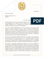 Caso Crystallex, carta del procurador especial a Carlos Vecchio