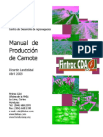 Manual de Produccion de Camote
