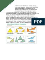 Clasificación de Triángulos Según Sus Lados