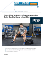 Natty Lifter's Guide to Supplementation_ Build Quality Gainz W_out Steroids