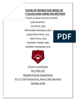 DETERMINATION OF REFRACTIVE INDEX OF MATERIAL OF GLASS SLAB USING PIN METHOD.pdf