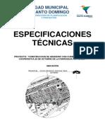 Especificaciones Técnicas 28 Oct