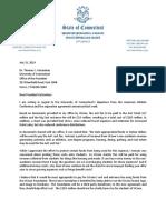 Len Fasano's letter to UConn