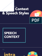 Speech Contexts and Styles