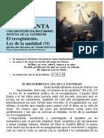 El Recogimiento, Ley de La Santidad (75) Hora Santa con San Pedro Julián Eymard.