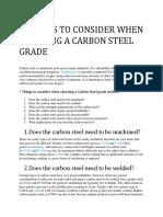 Carbon Steel Selection Designation