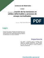 Determinac Tensiones Sólidos Deformables y Procesos de Ensayo Normalizados