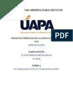Actividad 3 de Didactica Especial de La Lengua Española