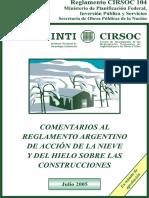 CIRSOC 104-2005 - Comentarios