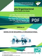 EQUIPO 3 D. O. U-IV MODELOS DE DESARROLLO ORGANIZACIONAL.pptx