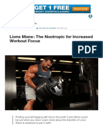 Lions Mane_ the Nootropic for Increased Workout Focus