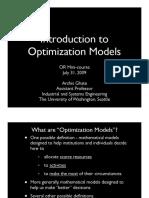 3optimization Models Ghate