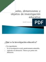 Kent_Niveles Dimensiones y Objetos de La Inv Educ