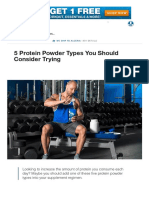 5 Protein Powder Types You Should Consider Taking
