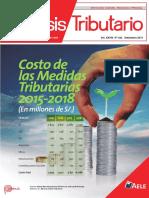 COSTO DE LAS MEDIDAS TRIBUTARIAS HASTA EL AÑO 2018