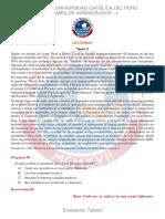 2016 -1 Examen Evaluación Talento PUCP