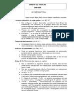 Revisão - Direito do Trabalho e Processo do Trabalho para OAB