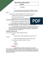 Revisão Direito Penal Parte Especial - 1ª fase OAB