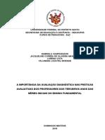 A Importância Da Avaliação Diagnóstica Nas Práticas Avaliativas Dos Professores Dos Terceiros Anos Das Séries Iniciais Do Ensino Fundamental - Versão Banca