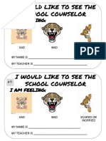 Elementary Student Request to See the Counselor